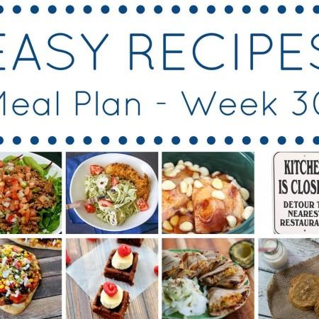 easy meal plan week 30