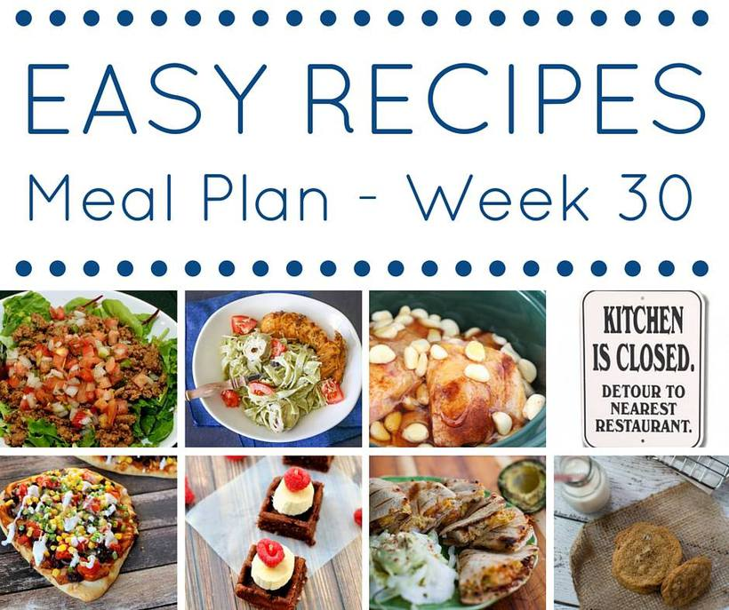 Weekly Meal Plan {Week 30}
