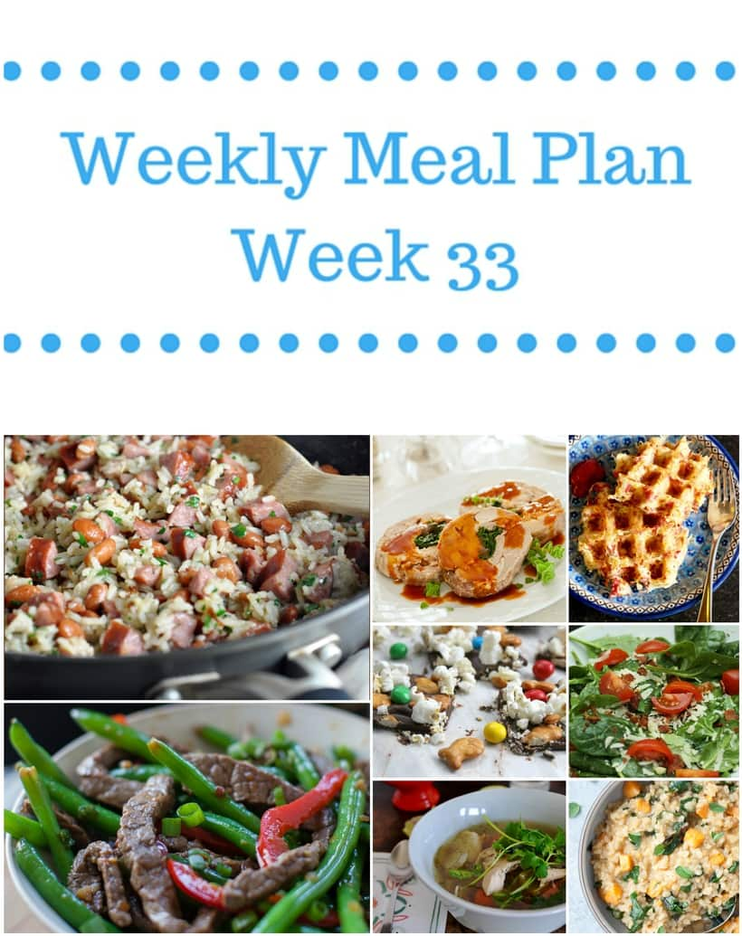 Weekly Meal Plan {Week 33}