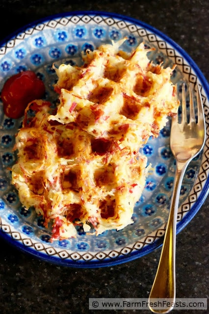 corned beef hashbrown waffles