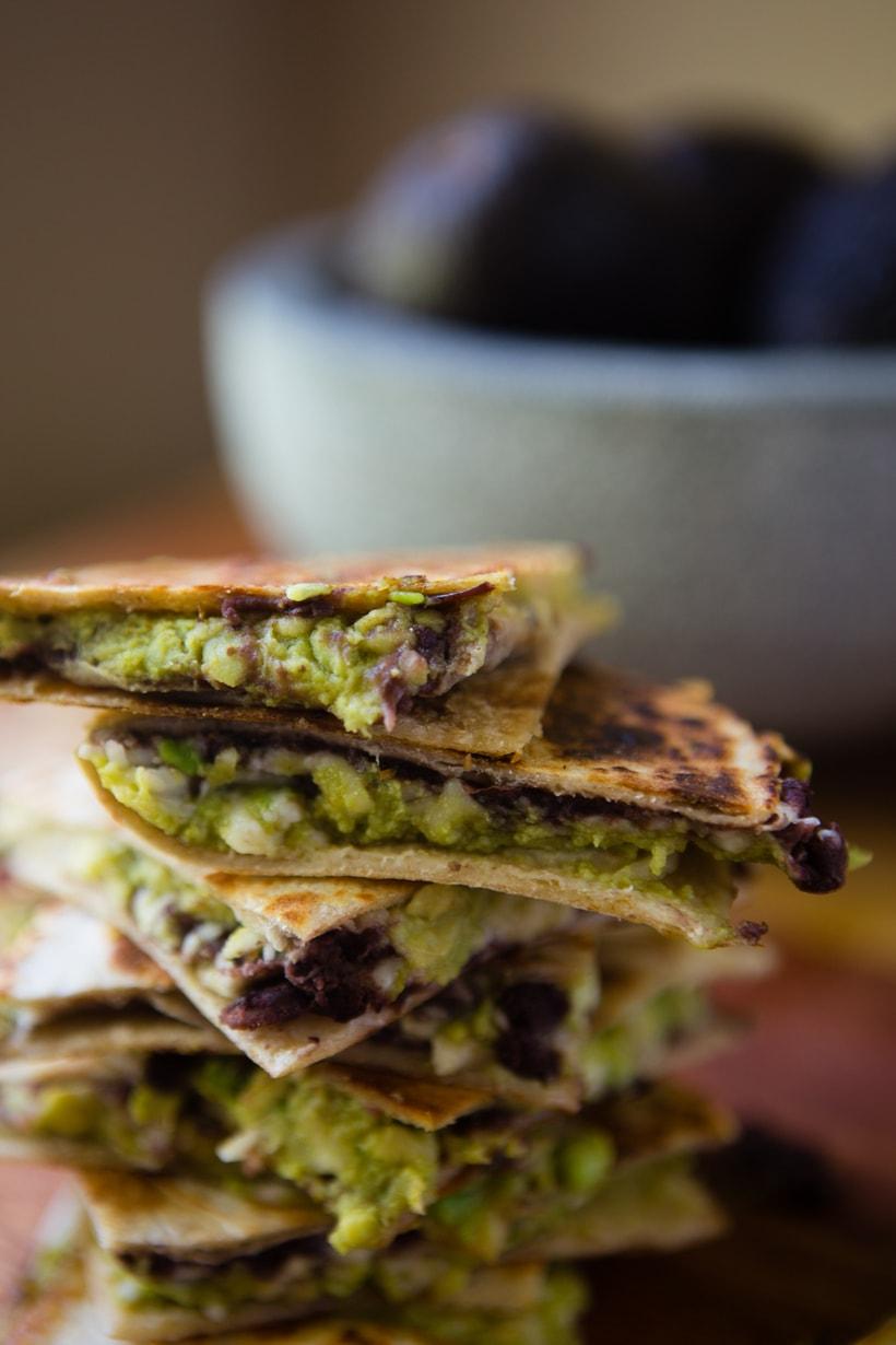 Easy Cheesy Avocado Quesadillas