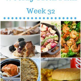 Weekly Meal Plan {Week 32}