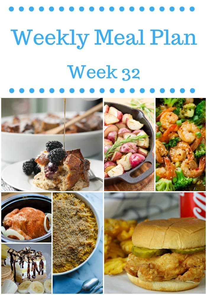 Weekly Meal Plan {Week 32}