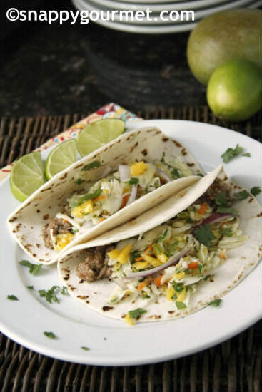 Caribbean Tacos from Snappy Gourmet