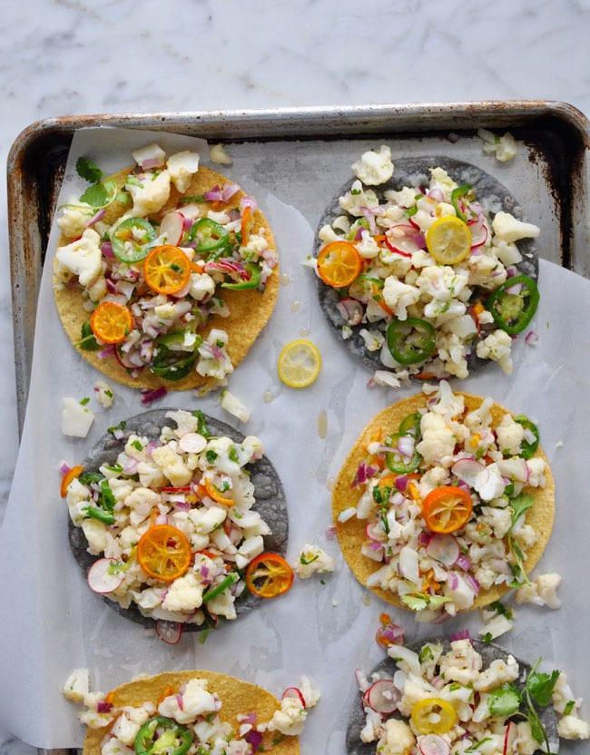 Cauliflower Ceviche Tacos from Hola Jalapeno
