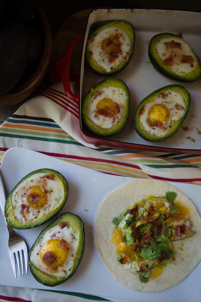 Eggs in an avocado basket -1