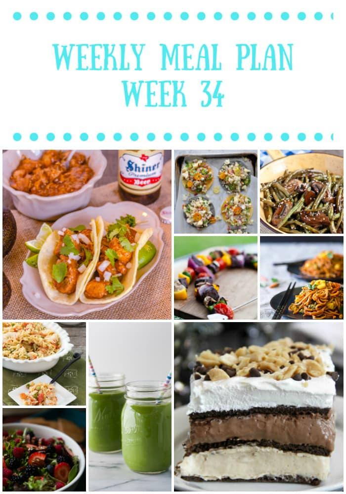 easy weekly meal plan week 34