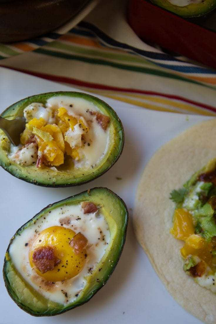Keto Friendly Avocado Eggs in a Basket