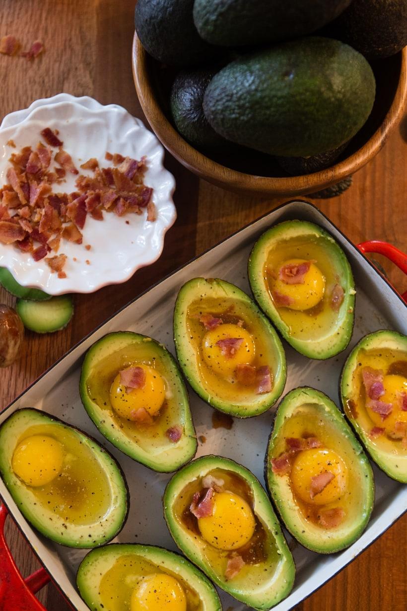 baked avocado eggs for breakfast