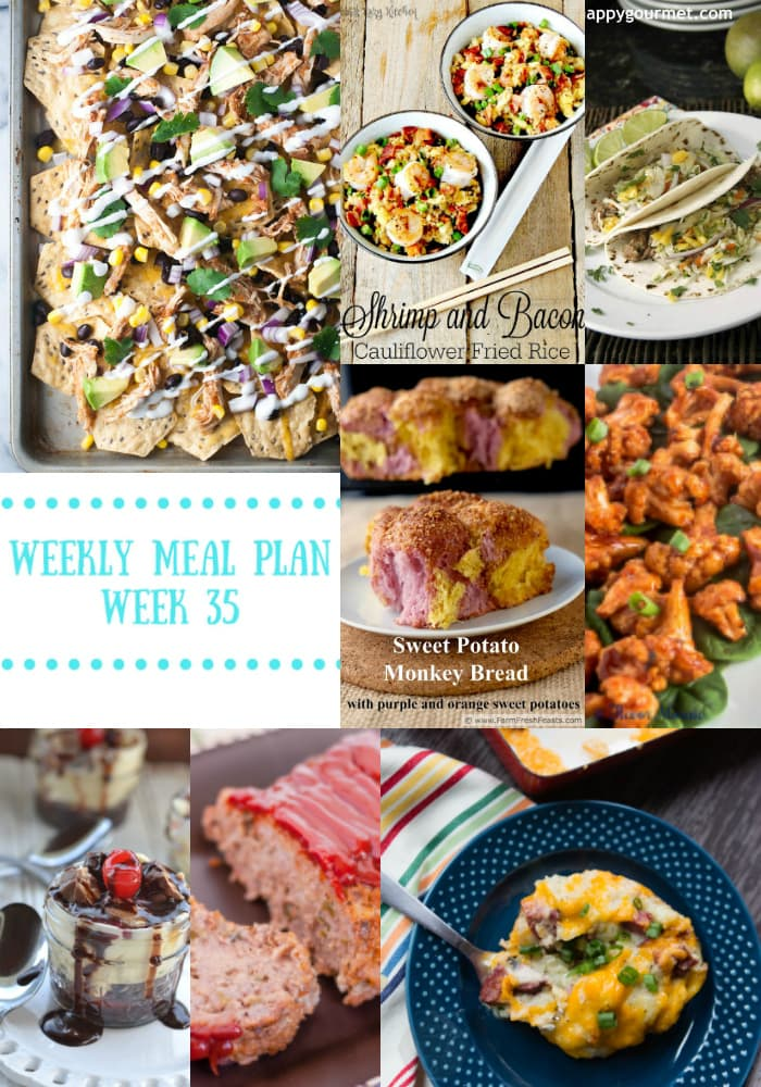 Weekly Meal Plan {Week 35}