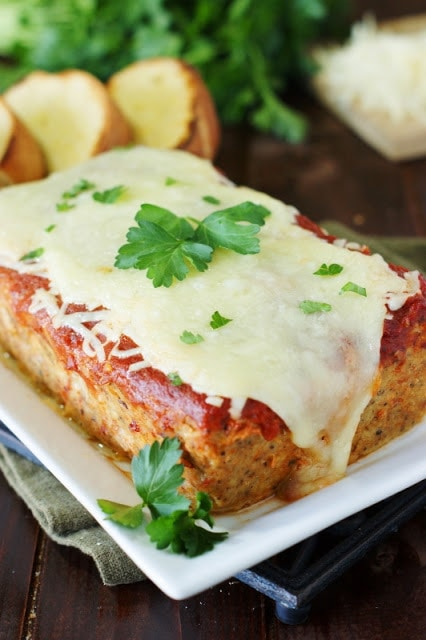 Chicken Parmesan Meatloaf recipe from The Kitchen is My Playground