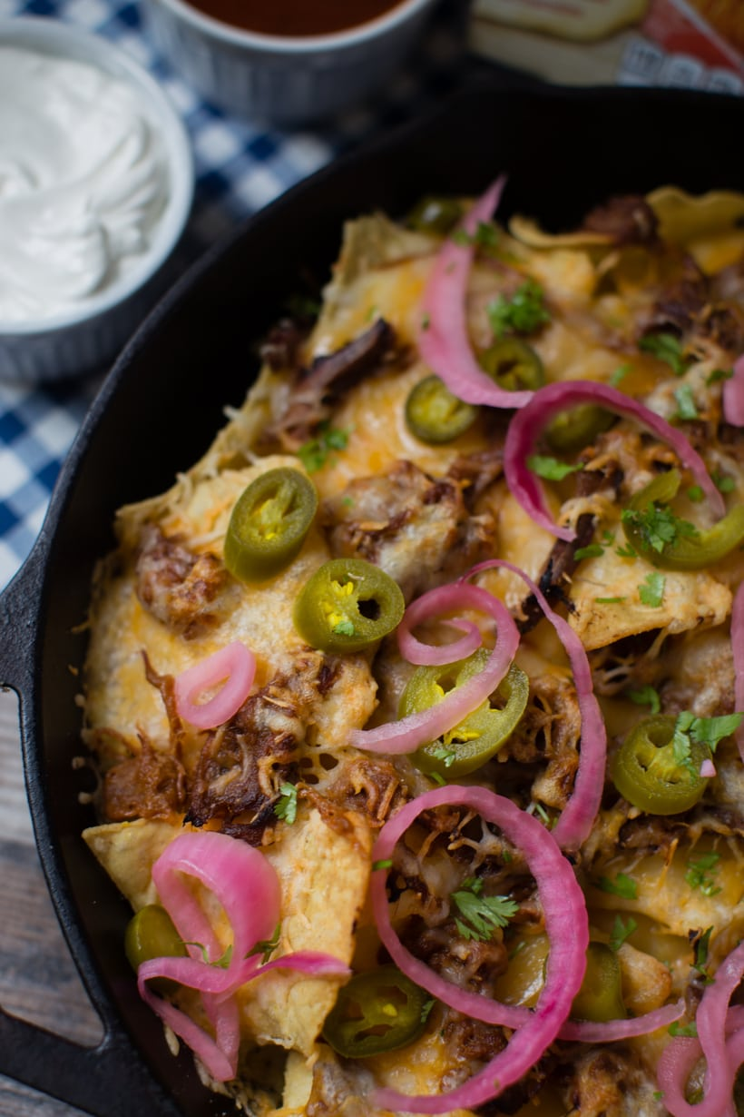 sweet and smoky pulled brisket tex mex nachos