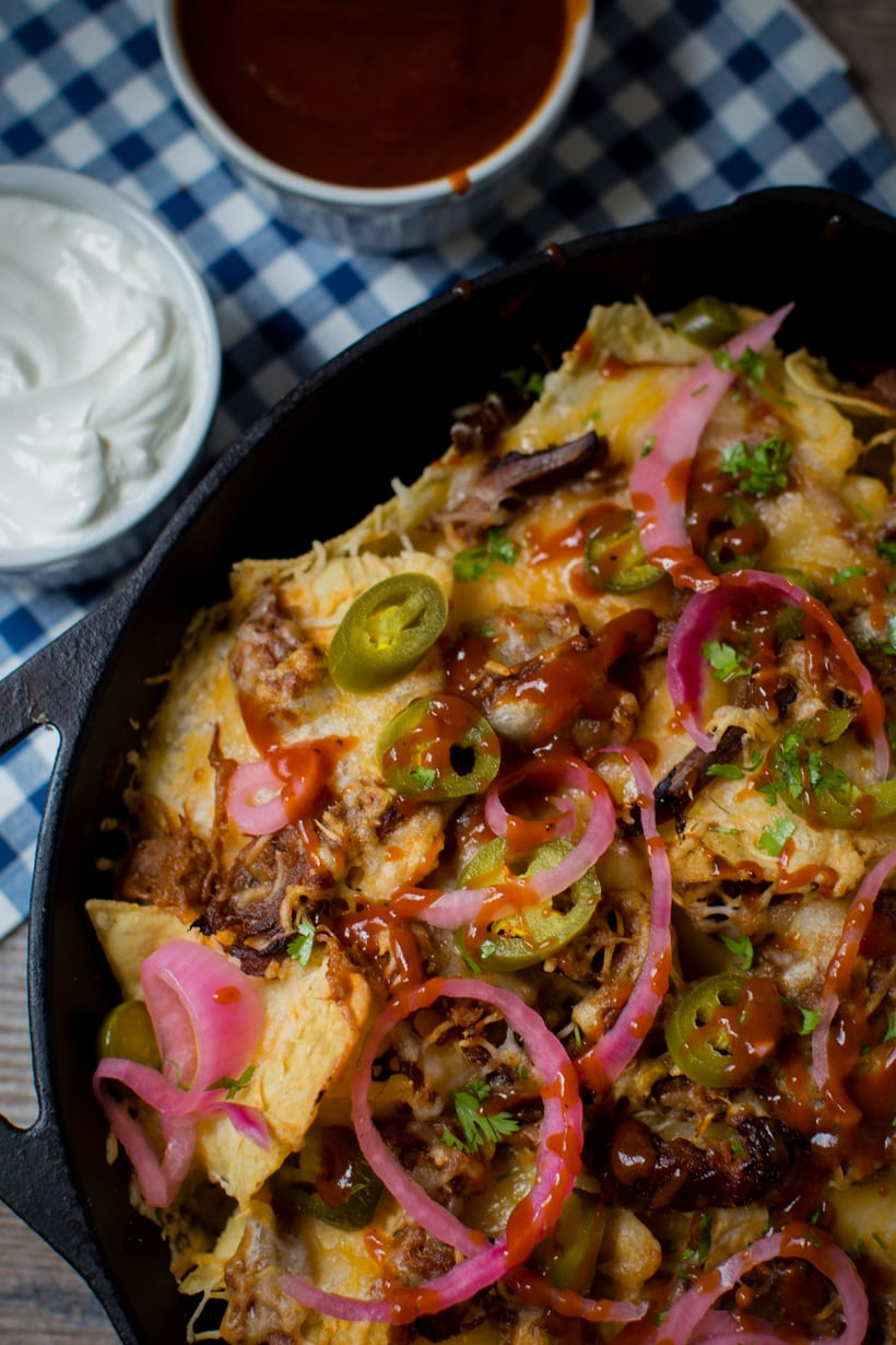 4 Cheese Brisket Tex Mex Nachos