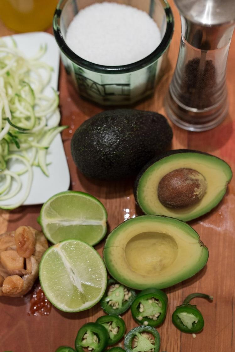 spicy avocado garlic pasta sauce