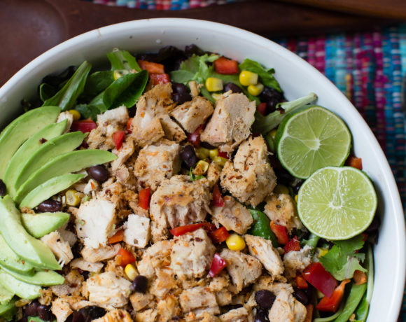Spicy Southwest Style Blackened Tuna Salad