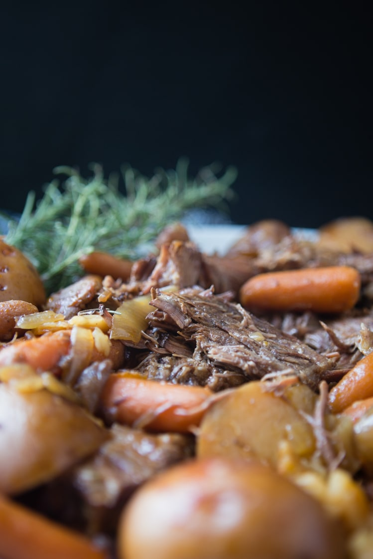 simple and easy slow cooker pot roast | A Southern Fairytale