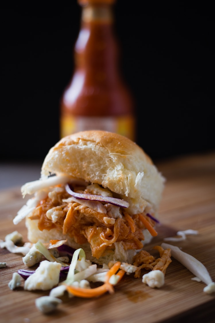 slow cooker buffalo chicken sliders