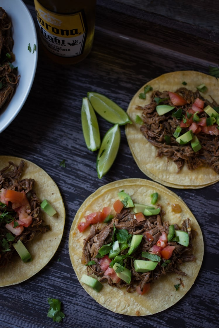 Spicy Slow Cooker Tex-Mex Shredded Beef Tacos - A Southern Fairytale