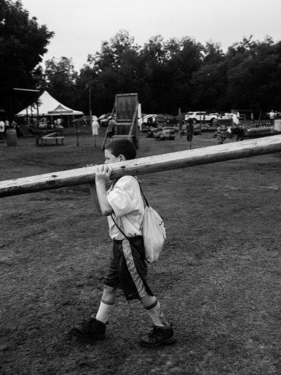 Halter inc volunteer day Monkey carrying lumber