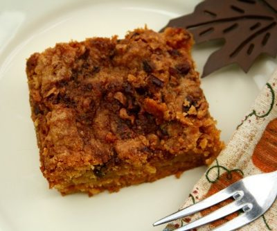 delicious and easy one pan pumpkin crunch cake --- this easy southern dump cake is a perfect fall treat with its pumpkin pie spice and sweet topping, perfect served with homemade whipped cream or over blue bell vanilla ice cream | asouthernfairytale.com