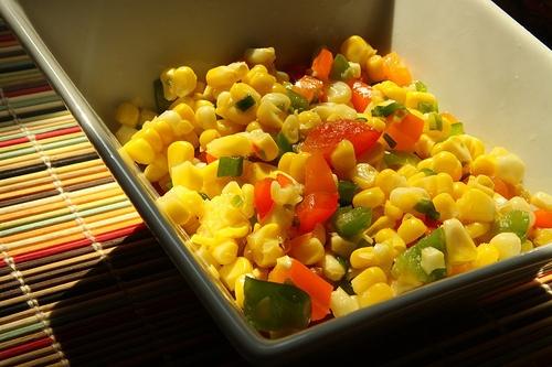 Confetti Corn Salad and Chilled Vinaigrette Potato Salad