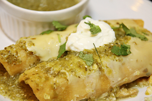 turkey enchiladas verde