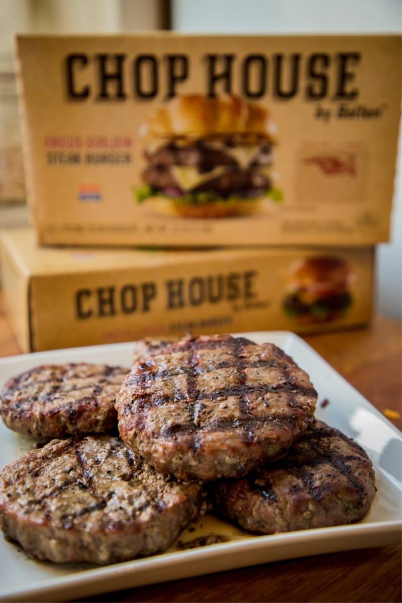 Grilled CHOPHOUSE steakburgers