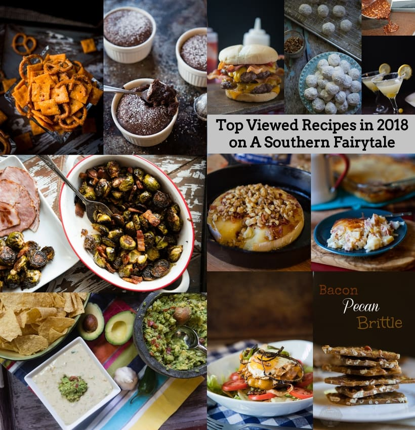 most viewed recipes of 2018 on A Southern Fairytale