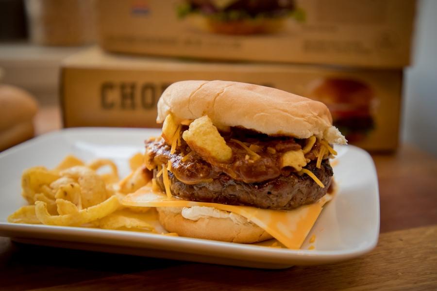 chili frito pie cheese burger