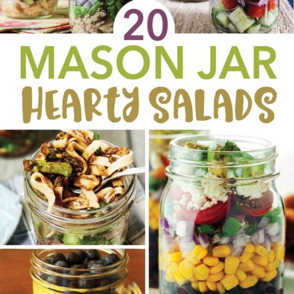 20 Mason Jar Hearty Salads