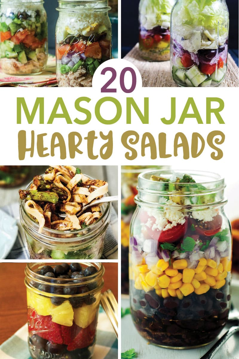 20 Mason Jar Hearty Salads
