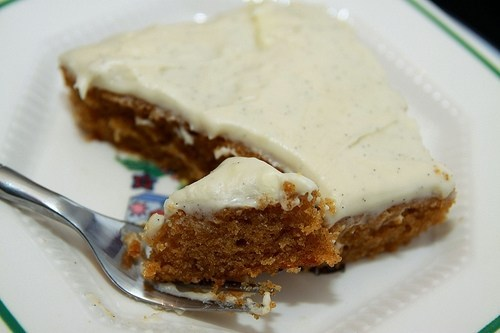 Pumpkin Sheet Cake with Vanilla Bean Cream Cheese Frosting