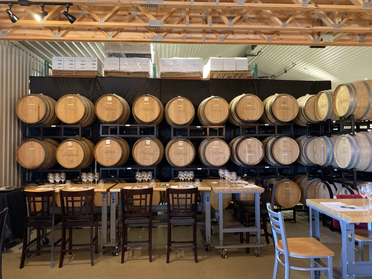 barrels at kuhlman cellars