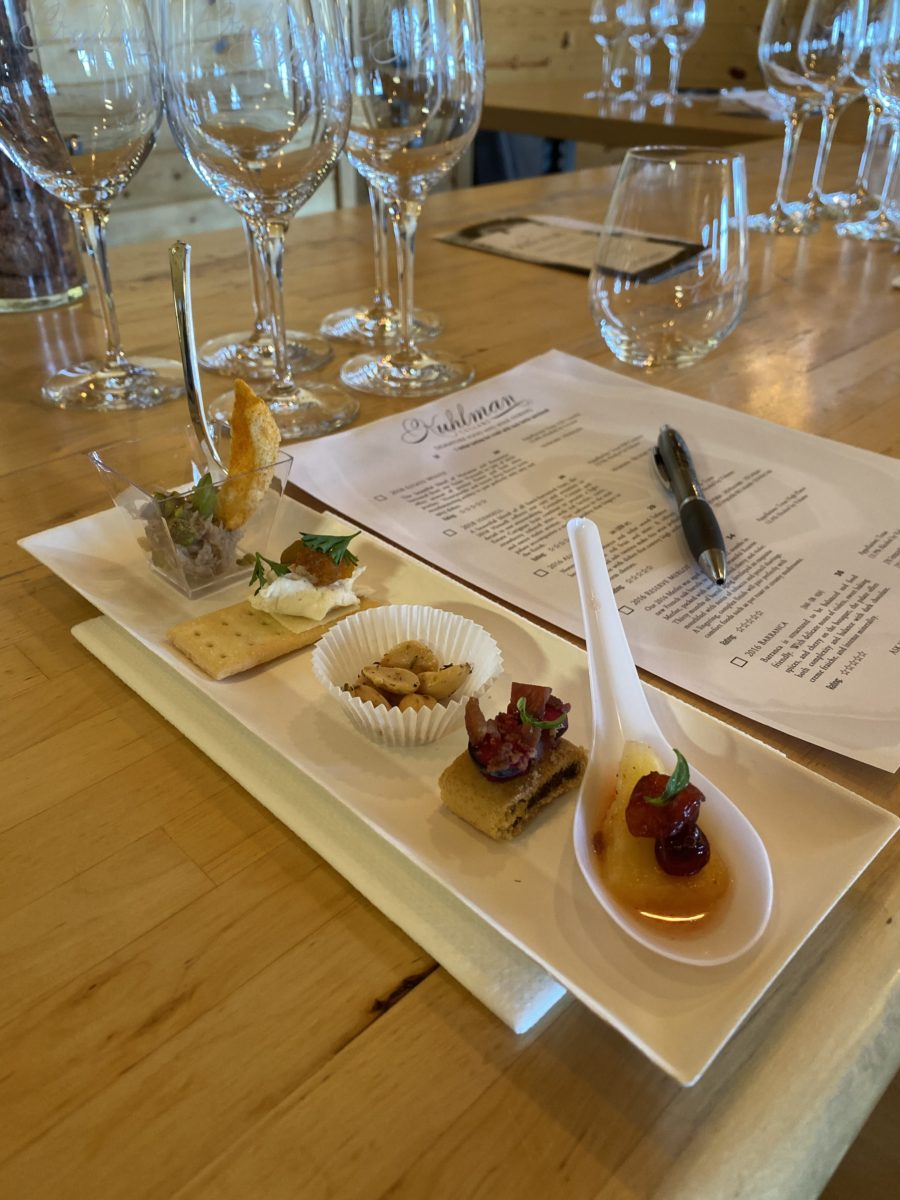 kuhlman cellars wine tastings